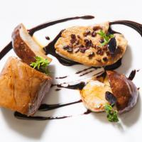 Filetto di vitello, foie gras, capasanta, porcini, salsa al tartufo